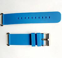 Силиконовый ремешок для детских часов с GPS трекером - Q60, Q100  голубой