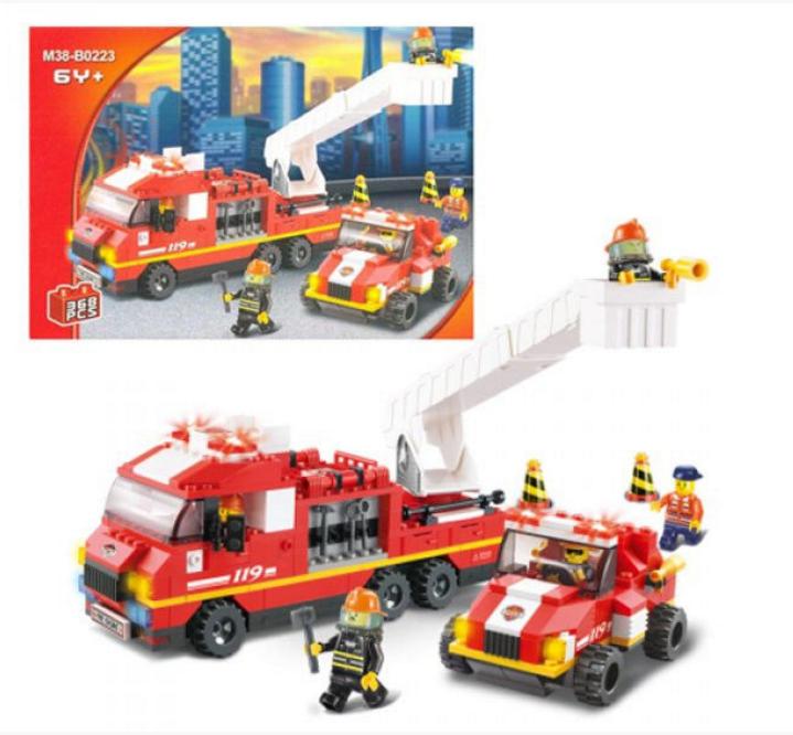 """Конструктор SLUBAN  """"Пожарная команда"""" 363 дет, 620035/M 38 B 0223"""