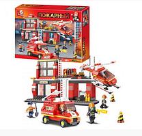 """Конструктор SLUBAN """"Пожарные спасатели"""" 371 деталь арт.M38-B0225"""
