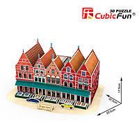 Трехмерная модель Рыночная площадь Брюгге , CubicFun (C182h)