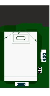Пакеты с прорубной усил. ручкой 30х40/50 (банан) для шелкографии и трафаретной печати