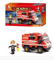 """Конструктор SLUBAN """" Маленькая пожарная машина ― Пожарные спасатели"""" 133 детали арт. M38-B0276"""