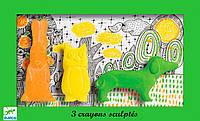 Набор фигурных мелков пастель Заец, сова, собака, DJECO (DJ08868)