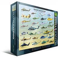 """Пазл """"Военные вертолеты"""" (1000 эл.), EuroGraphics (6000-0088)"""