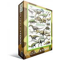 """Пазл """"Динозавры Мелового пероида"""" (1000 эл.), EuroGraphics (6000-0098)"""