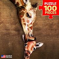 Пазл Жирафы - материнский поцелуй 100 элементов. Eurographics (8104-0301)