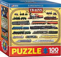 Пазл История поездов 100 элементов. Eurographics (8104-0090)