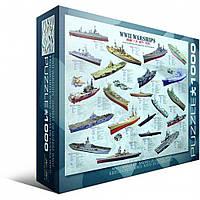 """Пазл """"Корабли 2-й Мировой войны"""" (1000 эл.), EuroGraphics (6000-0133)"""