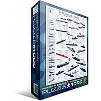 """Пазл """"Подводные лодки"""" (1000 эл.), EuroGraphics (6000-0132)"""