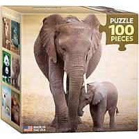 Пазл Слониха и слоненок 100 элементов. Eurographics (8104-0270)