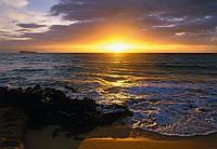 Фотообои на плотной полуглянцевой бумаге для стен 184*127 см из 1 листа: Пляж Гаваи