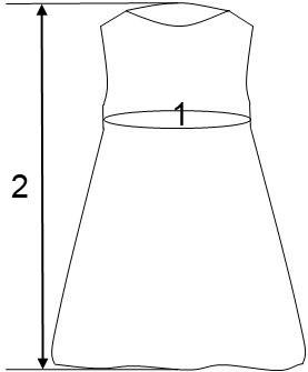 размеры детских платьев Флавиен