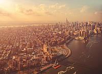 Фотообои на плотной полуглянцевой бумаге для стен 254*184 см из 4 листов:Манхэттен