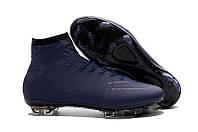 Футбольные бутсы Nike Mercurial Superfly 2016 FG Navy Blue, фото 1