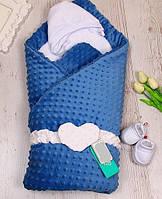 Зимний плюшевый конверт-одеяло на выписку