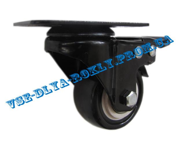 Мебельный ролик на поворотном кронштейне с тормозом