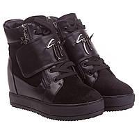 Сникерсы женские Gelsomino (черные, стильные, удобные, модные)