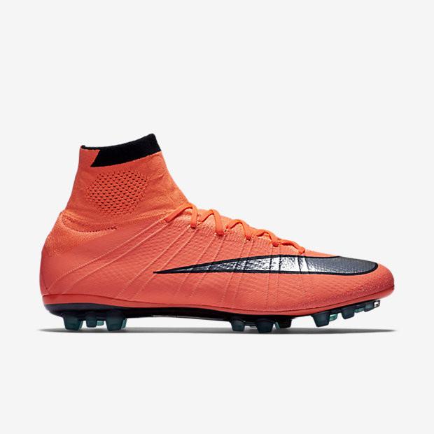 Футбольные бутсы Nike Mercurial Superfly AG-R Bright Mango Hyper Turquoise  Metallic Silver - Интернет 7a71e5f951ffa