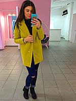 Пальто кашемировое цвет гороховый.