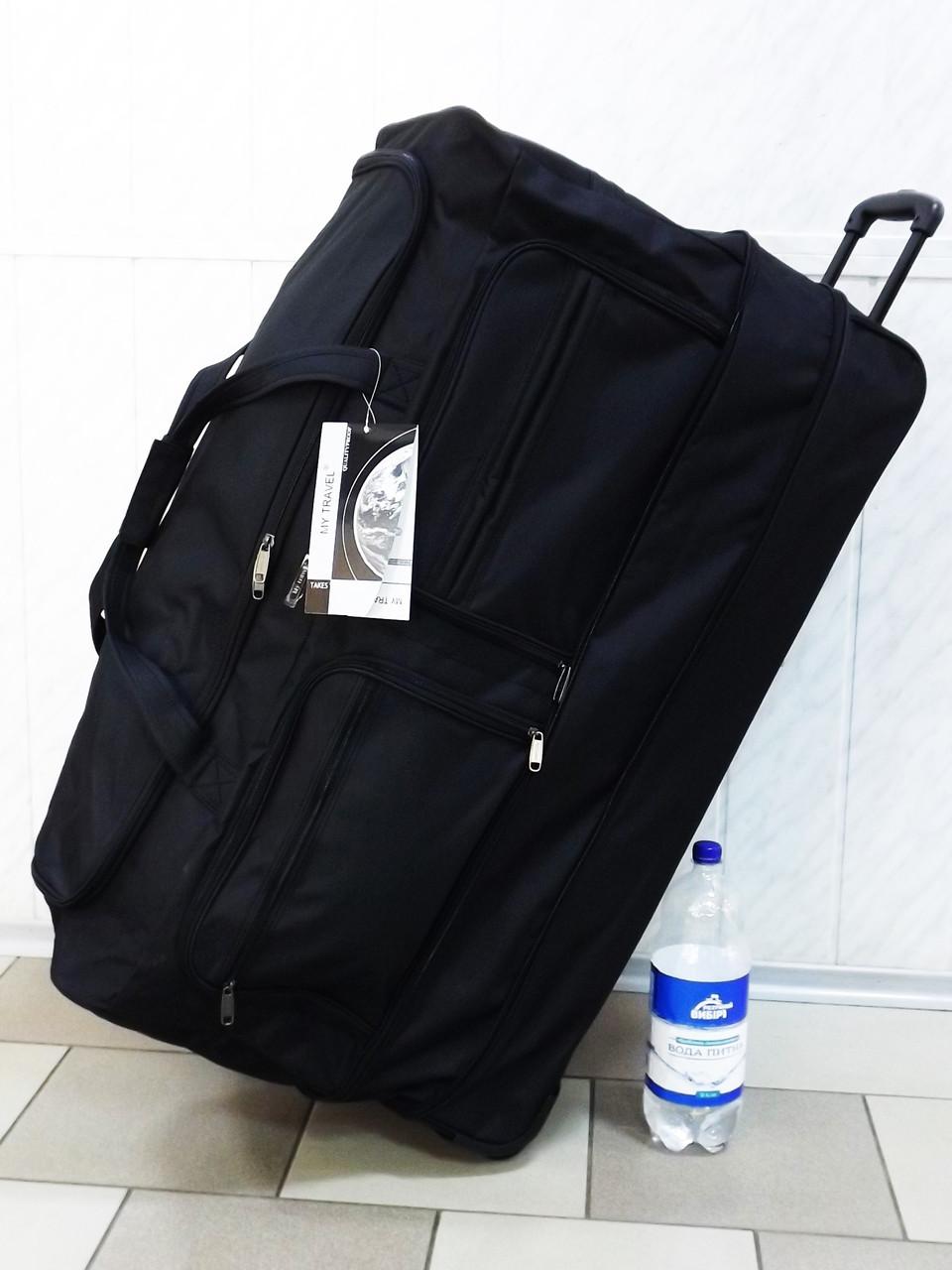 5a533410fc60 Очень большая текстильная дорожная сумка на колесах My Travel T-80 black -  интернет-