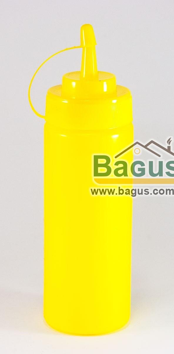 Диспенсер (бутылочка) 350 мл для соусов и сиропов с носиком пластиковый ЖЕЛТЫЙ Empire (EM-7082)