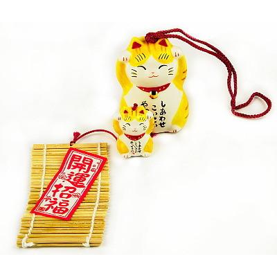 Колокольчики манеки-неко «На счастье и удачу»