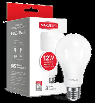 Светодиодная лампа Maxus 564 A65 12W 4100K 220V E27 Код.52763, фото 2