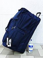 5daf688b9842 Очень большая текстильная дорожная сумка на колесах My Travel T-80 синяя