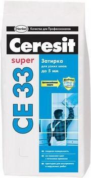 Затирка Ceresit СЕ-33 Super бежевый 2 кг - АРТІФІКО в Одессе