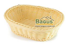 Корзинка для хлеба плетеная пластиковая овальная 24,5*19*8 см Empire (EM-9784)