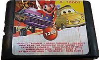 Картридж для Sega Mario Soniс Танчики 13в1