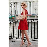 Женское красное Платье с открытой спиной Синтия