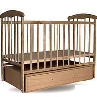 Кроватка детская фабричная с маятником и ящиком., фото 1