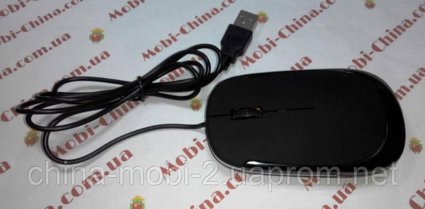 Компьютерная USB мышь в стиле rappo JM-3500 black, фото 2