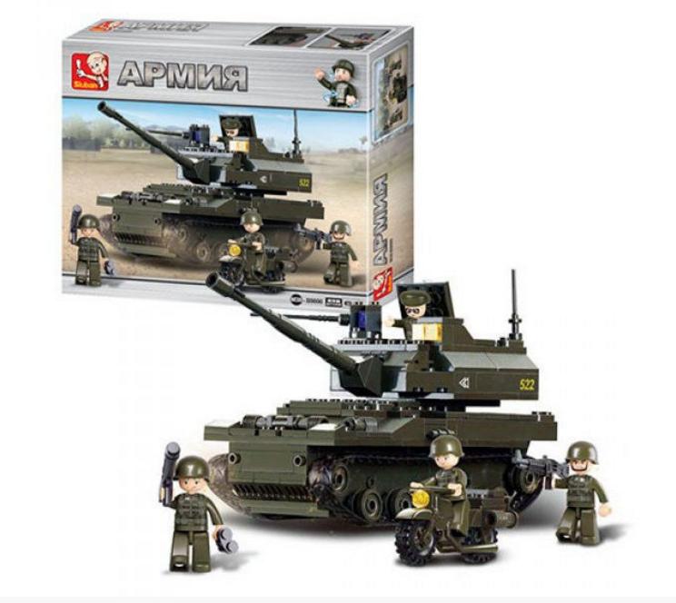 """Конструктор Sluban """"Сухопутные войска 2: Танк и мотоцикл"""", 258 дет, M38-B9800"""