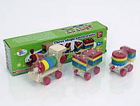 Сортер игрушка из дерева Паровозик