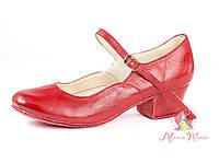Туфли для народных танцев красные 605-03