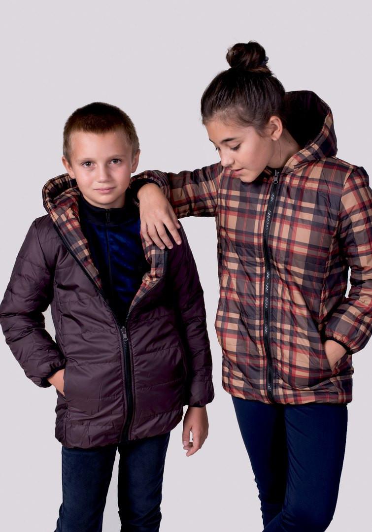 e90709f38220b Двухсторонняя курточка унисекс подросток -