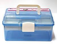 Пластиковый чемодан для маникюрных принадлежностей,средний