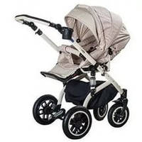 Детская коляска универсальная 2 в 1 Lara кожа 741S Adamex