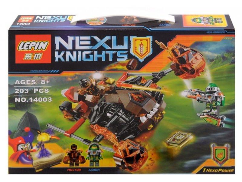 Конструктор лего нексо Nexo 198 деталей 14003 Лавинный разрушитель Молтора