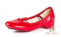 Балетки для народных танцев красные