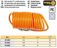 Шланг пневматический компрессора полиэтилен Ø= 5х8 мм l= 5 м VOREL-81490