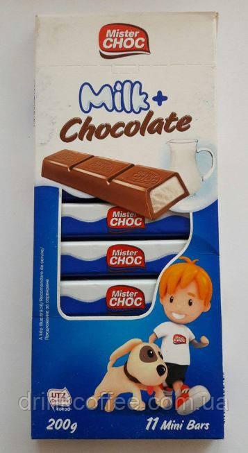 Шоколад Mister Choc Milk+Chocolate, Німеччина, 200 г