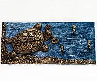 """Ключница на стену """"Черепаха стимпанк"""" Оригинальные подарки на 8 марта Ручной работы, фото 1"""