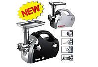 Электромясорубка Vitalex VL-5300 черная, мощная компактная мясорубка для кухни, мясорубка электрическая