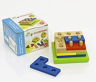 Деревянная игра детская Пирамидка