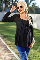 Стильная блуза беременной. Цвет черный.