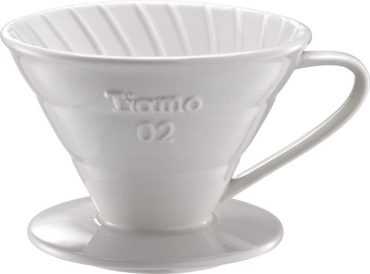 Пуровер Ceramic White Filter V02 Tiamo