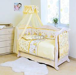 Детский постельный комплект Twins Comfort С-010 Медуны, желтый